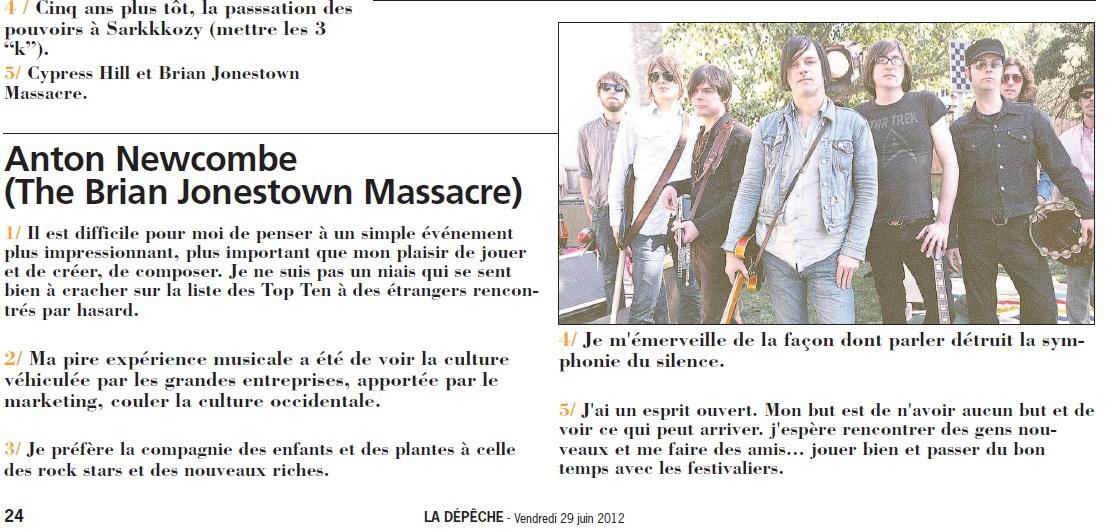 BJM - La Depeche juin12