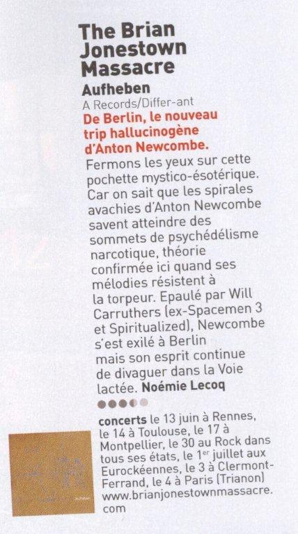 Brian Jonestone Massacre-Les Inrocks-Mai 2012