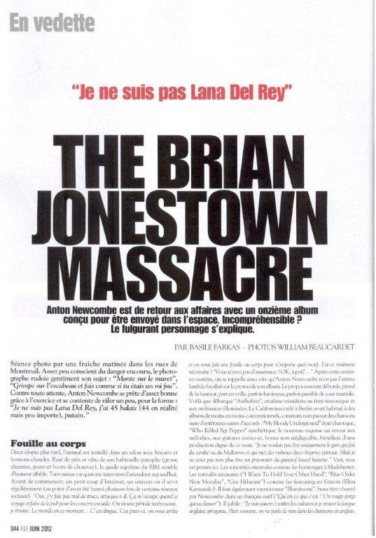 Brian Jonestown Massacre-Rock & Folk (ITW page 1)-Juin 2012