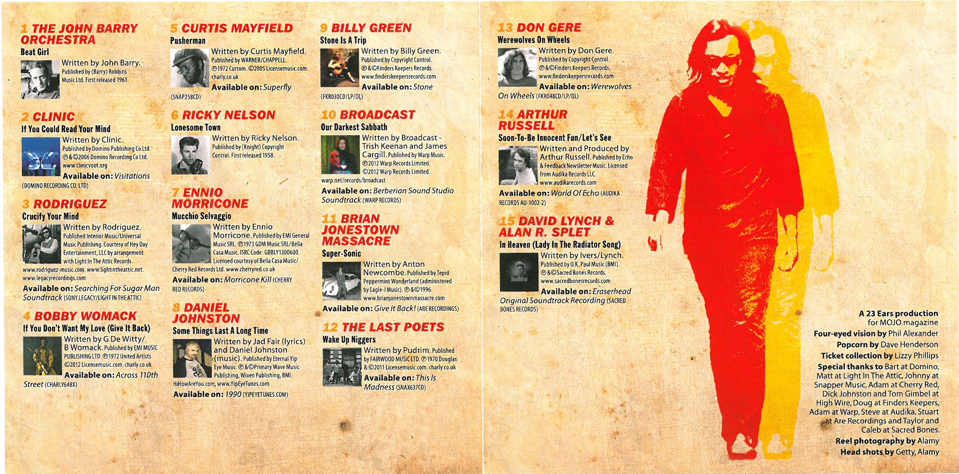 Mojo April 2013 - CD Inside Cover