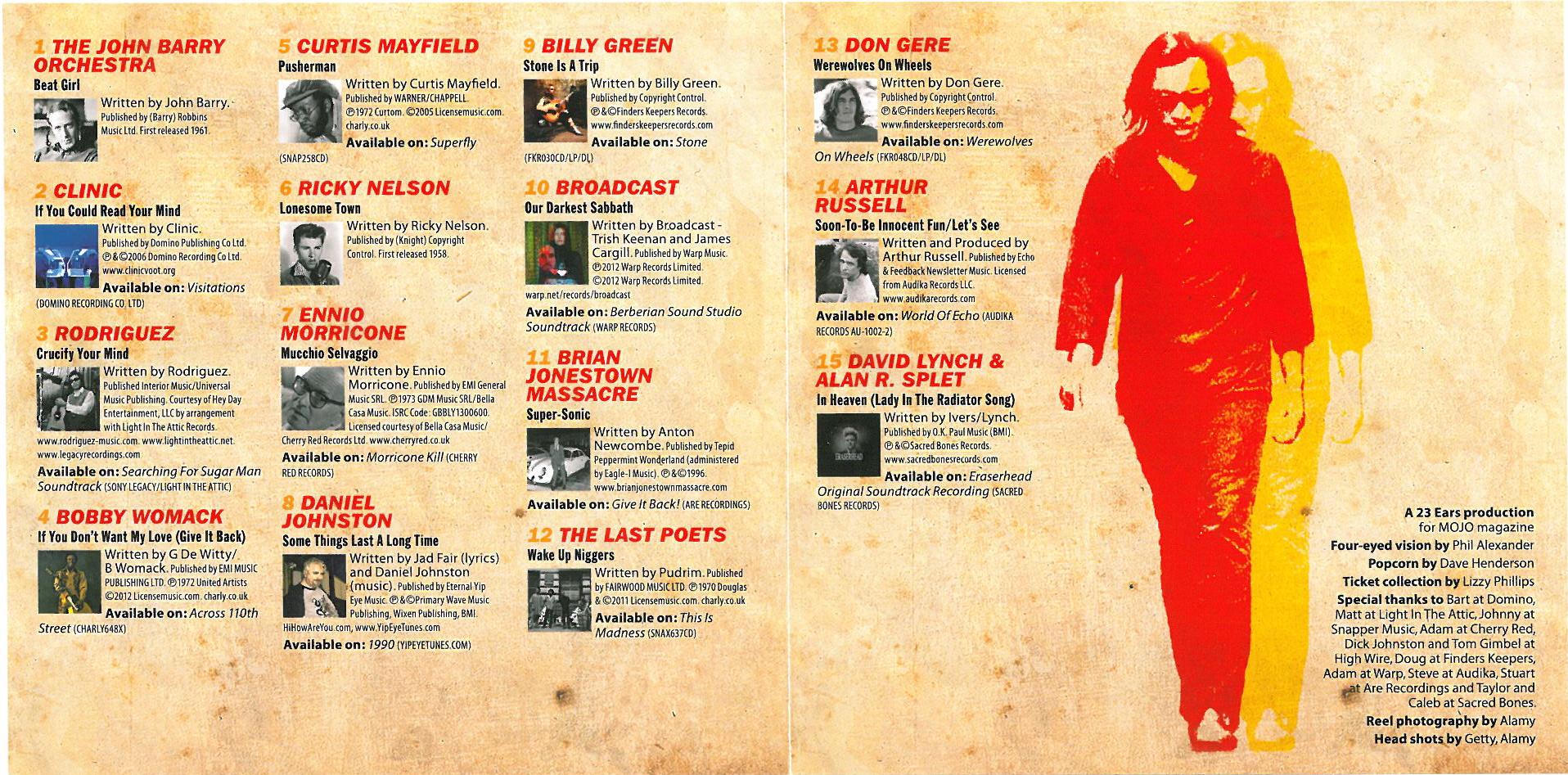 Mojo April 2013 - CD Inside Cover